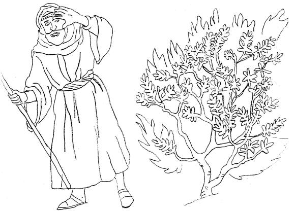 Life of Moses Coloring Pages Moses