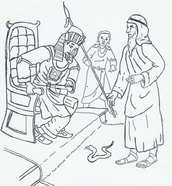 moses staff coloring pages - photo#31