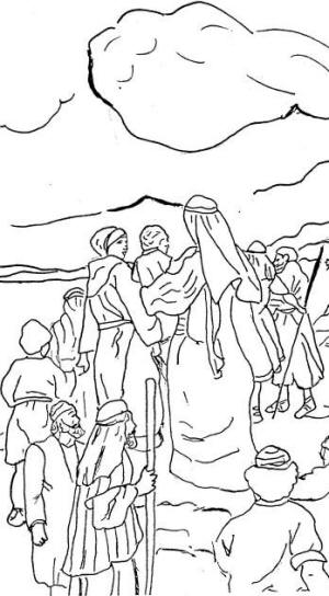 moses in the desert coloring pages - yahweh 39 s children passover lesson 6 the israelites