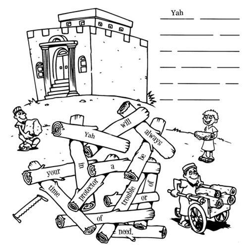 Yahweh 39 s children pickup sticks for Building the temple coloring pages