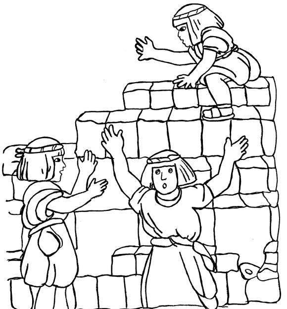 Tower Of Babel Coloring Pages http://www.yahwehschildren.org/web/sabbathlessons-sidemenu/8-primarylessons/89-lesson5tower.html